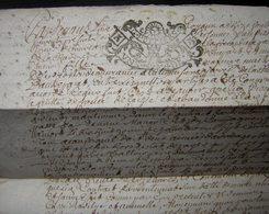 1715 Généralité De Poitiers Joli Cachet Sur Un Document Concernant Jean Pissard Et Sa Fille Marie, à  Déchiffrer... - Manuscripts