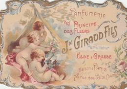 Calendrier De La Parfumerie GIRAUD Fils, Usine à Grasse. (4 Volets).superbes Illustrations. - Calendars