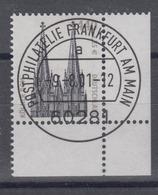 Bund 2206 SWK (XXVIII) 440 Pf/ 2,25 Eckrand Rechts Unten Mit ESST Frankfurt - BRD