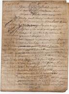 Acte Notarial Notaire Vente Manuscrit Sur Parchemin Le Mans Paroisse La Couture Cachet Généralité 4 P.1784 - Manuscripts