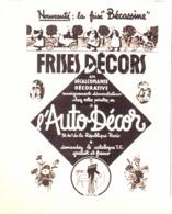 "PUB  AUTO-DECOR Et  FRISES "" BECASSINE ""   1936 - Otros"