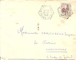 COQ DECARIS Sur ENV  OBLI LA ROCHE CANILLAC HEXAGONAL - 1877-1920: Semi Modern Period