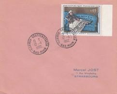 Env Affr Y&T 1364 Obl ILLKIRCH-GRAFFENSTADEN Du 12.11.1962 Adressée à Strasbourg - Marcophilie (Lettres)