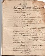 Acte Notarial Notaire Contrat De Mariage De La Lande Vouvray Maugeret Montlouis Cachet Généralité Tours 2 S. 4D 7 P.1785 - Manuscripts