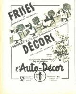 """PUB  AUTO-DECOR Et  FRISES """" BECASSINE """"   1937 ( 2 ) - Other"""