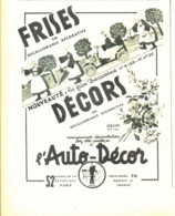 """PUB  AUTO-DECOR Et  FRISES """" BECASSINE """"   1937 ( 2a ) - Other"""