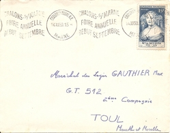 MME DE SEVIGNE  Sur  ENV OBLI CHALONS S/ MARNE - Poststempel (Briefe)