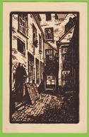 ANTWERPEN - De Vlaaikensgang Vanaf De Koornmarkt Gezien.  Door Gaston EBINGER - Antwerpen
