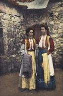 CP Carte Postale Costumes Nationales De Montenegro Femmes Costumes Traditionnels Déposé J Tosovic Raguse Dubrovnik - Montenegro