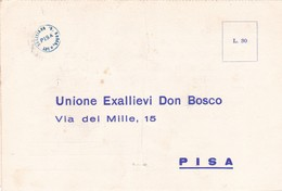 UNIONE EX-ALLIEVI DON BOSCO PISA LETTERA DI PARTECIPAZIONE AD EVENTO ANNO 1963 - Partecipazioni