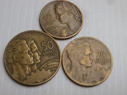 Yougoslavie Lot De 3 Pieces Republique Fédérale-  1955 Km# 33 34 35  TB / TTB - Yougoslavie