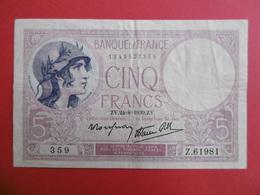 BILLET De CINQ FRANCS  - - 1871-1952 Circulated During XXth