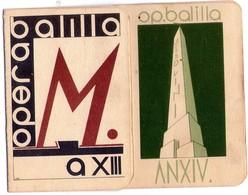 ITALIA   Fascismo  Tessere  Lotto Di 2 Tessere     Descrizione - Vecchi Documenti