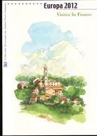 2012, DOCUMENT OFFICIEL DE LA POSTE: EUROPA 2012, Visitez La France - Documents De La Poste