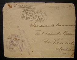 1927 Ancenis Dépôt De Mobilisation Du 1er Régiment De Tirailleurs Algériens, Devant De Lettre Réutilisé, Avec Daguin - Postmark Collection (Covers)