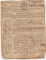 Acte Notarial Notaire Vente D'héritages Landes Loir Et Cher Bordeau Moreau Cachet Généralité Orléans Deux Sols  4 P.1780 - Manuscripts