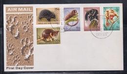 Papua New Guinea 1971 Mammals FDC(BOROKO Cancellation) - Papouasie-Nouvelle-Guinée