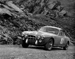 Liège-Rome-Liège Rally 1953  -  Salmson 2300S  -  Pilote: Jean Lemerle  -  15x10cms PHOTO - Rally
