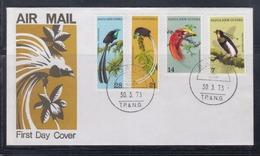Papua New Guinea 1973 Birds Of Paradise FDC(BOROKO Cancellation) - Papouasie-Nouvelle-Guinée