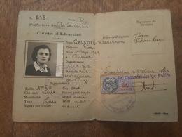 Timbre Fiscal 50 Francs Sur Carte D'identité 1948 - Noeux Les Mines - Marcofilia (sobres)