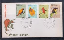 Papua New Guinea 1970 Birds Of Paradise FDC(WEWAK Cancellation) - Papouasie-Nouvelle-Guinée