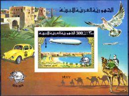17.7.1977; 100 Jahre UPU - Zeppelin, Blockausgabe Nr. 25 B; Neu **, Los 50489 - Libyen