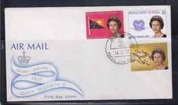 Papua New Guinea 1977 Queen Elizabeth II Silver Jubilee FDC(ARAWA Cancellation) - Papua New Guinea