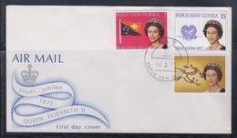 Papua New Guinea 1977 Queen Elizabeth II Silver Jubilee FDC(LAE Cancellation) - Papua New Guinea