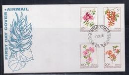 Papua New Guinea 1966 Flowers FDC(KOKODA Cancellation) - Papua New Guinea
