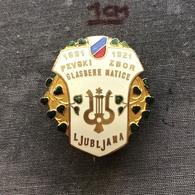 Badge Pin ZN007391 - Music Yugoslavia Slovenia Ljubljana Pevski Zbor Glasbene Matice 1921 - Music