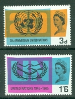 G.B.: 1965   20th Anniv Of U.N.O. And I.C.Y.    MH - 1952-.... (Elizabeth II)