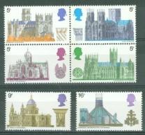 G.B.: 1969   British Architecture - Cathedrals  MNH - Neufs