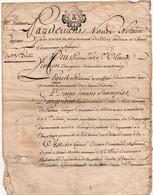 Acte Notarial Notaire Blois Loir Et Cher Vente Simon Dangereux Thenay Cachet Généralité Tours Deux Sols  4 P.1766 - Manuscripts