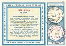 India 1971 Type XIX 98 P International Reply Coupon Reponse Antwortschein IRC IAS - Sin Clasificación