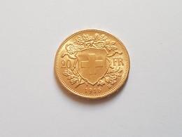 20 Francs Or Suisse De 1915 SUP Croix, 900 ‰  , 6,45 Gr - Svizzera