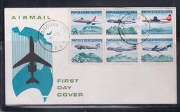 Papua New Guinea 1970 Australia/New Guinea Air Services FDC(PANGUNA Cancellation) - Papua New Guinea
