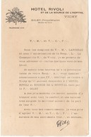 (franc Maçonnerie) Vichy (03 Allier) Prospectus HOTEL TIVOLI  (PPP9645) - Advertising