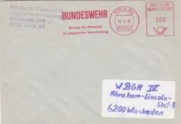 Modern German Military Post: Schule Für Personal In Integrierter Verwendung In Köln To WBGA IV In Wiesbaden - Militaria