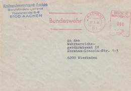 Modern German Military Post: Kreiswehrersatzamt Aachen To Kreisbereichsgebührnisamt IV In Wiesbaden P/m - Militaria
