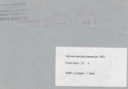 Modern German Military Post: Heeresamt VIII In Köln To Versorgungskommando 800 In Lingen P/m Köln 1989  (DD6-51) - Militaria