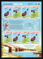 BIRD TOUCAN CROW URUGUAY STAMP MNH SHEET - Adler & Greifvögel