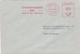 Modern German Military Post: Kreiswehrersatzamt Köln To Wehrbereichsgebührnisamt IV In Wiesbaden P/m Köln - Militaria