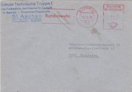 Modern German Military Post: Schule Technische Truppe 1 In Aachen To - Militaria