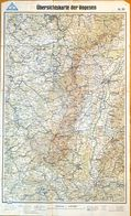 Carte Routière Des Vosges En 1942: Übersichtskarte Der Vogesen - Landkarten N° 86 - Roadmaps