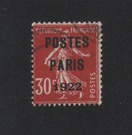 Faux Préoblitéré N° 32 30 C Semeuse Poste Paris 1922 - 1893-1947