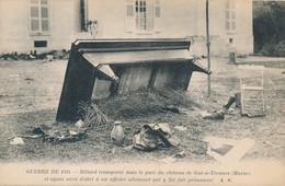 CPA - Thèmes - Militaria - Guerre 1914 - Billard Transporté Dans Le Parc Du Château De Gué-à-Tresmes - Guerre 1914-18