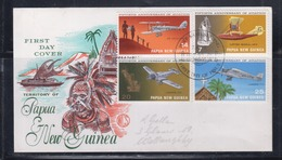 Papua New Guinea 1972 15th Anniversary Of Aviation FDC(WCS) - Papouasie-Nouvelle-Guinée