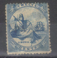 "LIBERIA    N° 2 (1860)    Oblitération ""paid""   Discrète - Liberia"