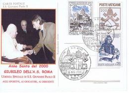 GIUBILEO 2000 TOTTI DAL PAPA - Storia Postale