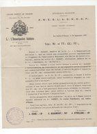 Les Sables D'Olonne (85 Vendée)( Franc Maçonnerie) Document De 1927  (PPP9650) - Old Paper